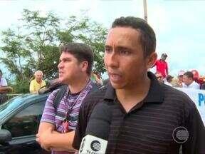 PMs do Maranhão realizam protesto e fecham ponte que dá acesso ao Piauí - PMs do Maranhão realizam protesto e fecham ponte que dá acesso ao Piauí