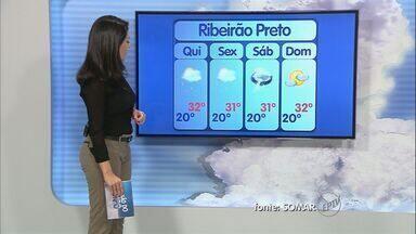 Confira a previsão do tempo para esta quinta-feira na região de Ribeirão Preto - Áreas de instabilidade se afastam do interior paulista.