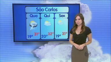 Confira a previsão do tempo para a região de São Carlos nesta quarta-feira (9) - Confira a previsão do tempo para a região de São Carlos nesta quarta-feira (9).