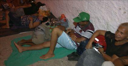 Mutirão DPVAT em João Pessoa - As filas para o mutirão, no bairro de Manaíra, começam de madrugada.
