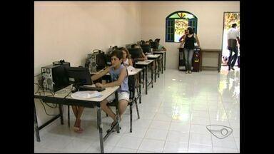Telecentros com poucos equipamentos dificultam vida de estudantes de Jerônimo Monteiro, ES - De acordo com eles, o local não foi montado como deveria. Há computadores, porém há dois anos a internet ainda não foi instalada.