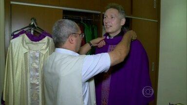 Vídeo Show mostra os bastidores do programa Santa Missa com Padre Marcelo Rossi - Programa está no ar desde 1968