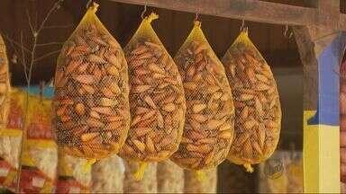 Época de pinhão movimenta barracas artesanais em Ipuiúna - Época de pinhão movimenta barracas artesanais em Ipuiúna