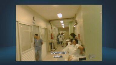 Com superlotação no PS, hospital da PUC recomenda outros hospitais - Com o atendimento em 135% acima da capacidade no pronto-socorro adulto, o Hospital e Maternidade Celso Pierro, da PUC-Campinas, solicitou nesta sexta-feira que novos pacientes procurem outros hospitais da cidade.