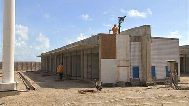 Obras da Beira-Mar devem ficar prontas em 2015 - Mercado dos Peixes funciona em estrutura provisória