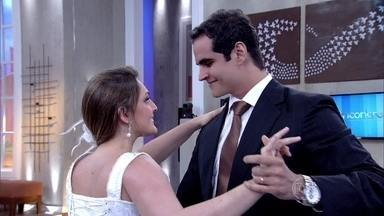 Paula e Victor apresentam dança que fizeram para os convidados no casamento - Casal encanta a plateia com coreografia e conversa com Fátima