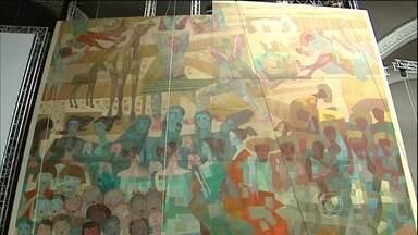 Pinturas de Cândido Portinari vão para exposição em Paris - Já estão em Paris os grandes painéis guerra e paz do pintor brasileiro Cândido Portinari. Foi preciso uma operação de alta complexidade para levar as gigantescas pinturas para a primeira exposição na Europa.