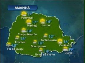 Domingo será de sol e chuva na região de Guarapuava - O dia começará com sol, mas a chuva pode cair durante à tarde.