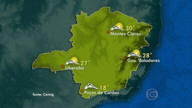 Veja a previsão do tempo para o domingo (4) em Minas Gerais - Céu fica nublado durante todo o dia na Região Sul e Zona da Mata.