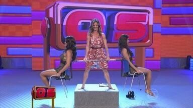 Valesca Rocha mostra sua força no 'levantamento de bailarinas' - Aos 42 anos, atleta surpreende no palco do programa