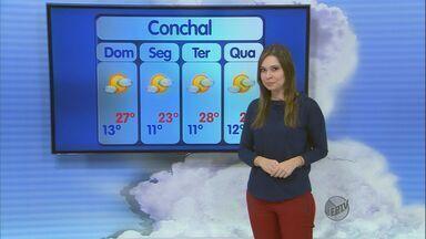 Confira a previsão do tempo para este domingo (11) na região de São Carlos - Confira a previsão do tempo para este domingo (11) na região de São Carlos