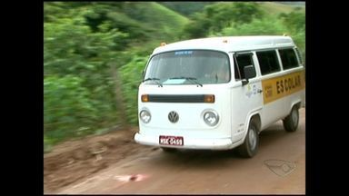 Veículos que fazem transporte de alunos no interior do ES voltam a circular - Carros estavam em manutenção e ficaram três meses sem transportar os estudantes.