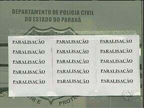 Policiais civis fazem paralisação - Em Umuarama apenas os atendimentos de urgência vão ser feitos hoje na delegacia.
