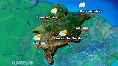 Veja como fica a previsão do tempo para esta terça-feira (13) - No sul do estado não chove. Sol aparece entre nuvens, em São Luís.