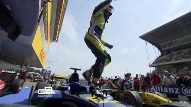 Felipe Nars vence o GP2 pela primeira vez - Felipe largou em sexto lugar, mas em pouco tempo conquistou três posições. Depois de duas temporadas, ele chegou ao primeiro lugar do pódio.
