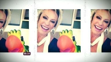 Confira os selfies famosos da Ana Maria Braga! - Ela ainda ressalta o selfie feito pelo repórter Fabricio Battaglini