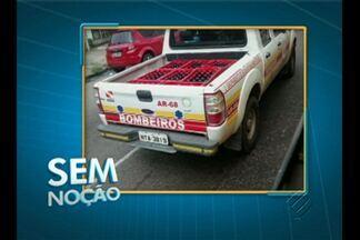 'Sem Noção' flagra viatura dos bombeiros fazendo transporte de caixas de bebida - Flagrante foi feito por telespectador e enviado a quadro do Jornal Liberal 1ª edição.