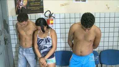 Três pessoas foram presas suspeitas de envolvimento com tráfico de drogas e homicídios - Prisões aconteceram na manhã de hoje, em São Luís.