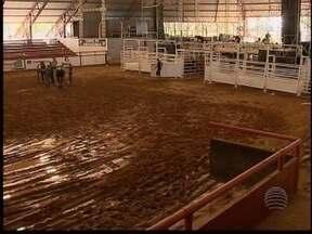 Arena Rodeo Festival começa nesta quinta-feira - Rancho Quarto de Milha está quase pronto para a festa.