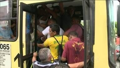 Motoristas e cobradores de ônibus entram em greve em São Luís do Maranhão - Apenas 30% dos ônibus estão circulando. Os grevistas querem reajuste no salário de 16% e tíquete alimentação de R$ 500.