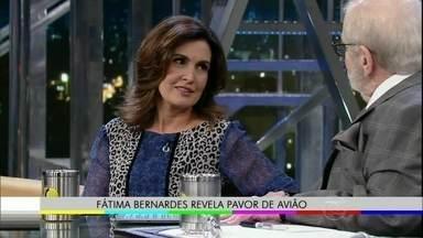 Fátima Bernardes fala sobre o medo que tem de avião - Momento foi ao ar no Programa do Jô