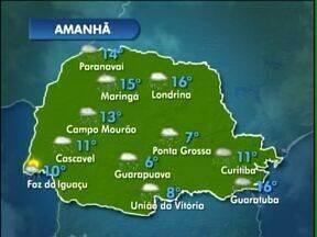 Sexta-feira será de chuva na região de Guarapuava - A mínima prevista na cidade é de 6ºC.