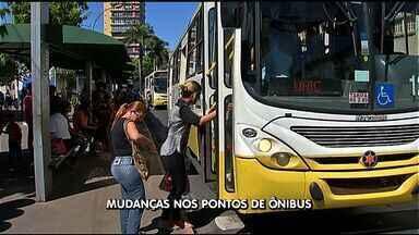Itinerário e pontos de ônibus passam por mudança no centro de Cuiabá - Itinerário e pontos de ônibus passam por mudança no centro de Cuiabá.
