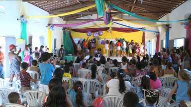 Projeto apoiado pelo Criança Esperança em São Luís comemora o Dia do Brincar - Crianças e adolescentes do Projeto Santa Cultural comemoraram a data com bastante euforia.