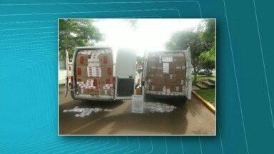 PM de Toledo preende comboio de contrabandistas - Com os bandidos foram encontradas 250 caixas de cigarros do Paraguay e oito mil reais em dinheiro.