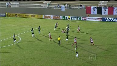 América-MG perde jogo e a liderança da Série B do Campeonato Brasileiro - Time mineiro foi derrotado pelo Náutico. Partida terminou 3x1. Mancini marcou o gol do Coelho.