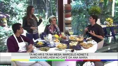 Marcius Melhem e Marcelo Adnet tomam café da manhã com Ana Maria Braga - Veja os bastidores do encontro divertido