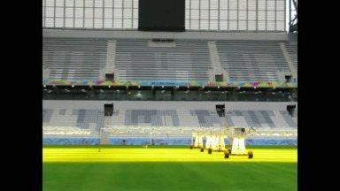 Arena da Baixada recebe últimos retoques para a Copa do Mundo - Arena da Baixada recebe últimos retoques para a Copa do Mundo