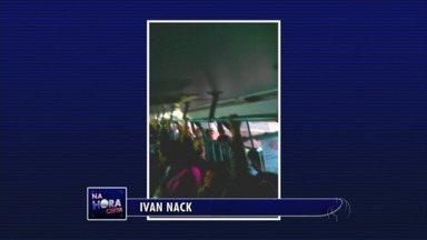 Quem usa o transporte coletivo em Maringá reclama da superlotação - Telespectadores filmaram o problema