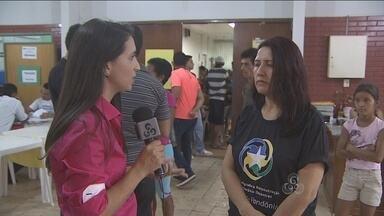 Recadastramento de famílias atingidas pela cheia continua - O Rondônia TV acompanhou a movimentação no local.