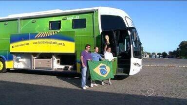 Amigos do ES preparam ônibus para assistir aos jogos da Copa - No ano passado, eles preparam um ônibus especial e foram ver de perto a seleção, na Copa das Confederações.