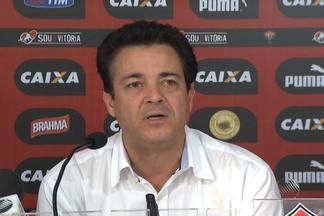 Novo diretor de futebol do vitóruia é apresentado - Marcos Moura Teixeira substitui Felipe Ximenes. O novo diretor do rubro-negro já fez parte da comissão técnica da Seleão Brasileira e do Real Madrid.