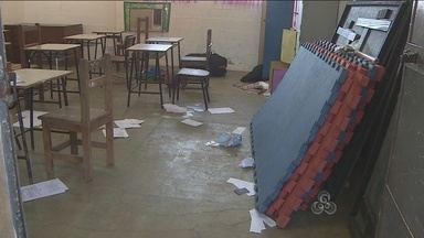 Escola pública é alvo de bandidos na Vila Tupi, em Porto Velho - O furto não foi registrado, as câmeras de segurança do local já haviam sido roubadas.