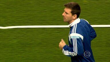 Seleção argentina faz o primeiro treino fora da Cidade do Galo - Equipe se prepara para a estreia no Mundial, em jogo contra a Bósnia, no Maracanã, no domingo (15).