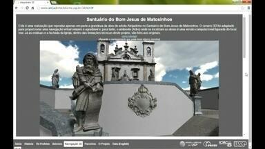 Pesquisadores criam site com obras de Aleijadinho em 3D - Estão sendo completados dois séculos da morte de Aleijadinho. Agora, é possível ver suas obras, que estão expostas em Ouro Preto e Congonhas do Campo, pela internet e em alta qualidade.