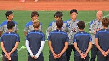 Seleção da Coreia do Sul desembarca para jogo em Cuiabá - A seleção da Coreia do Sul desembarcou para o jogo em Cuiabá.