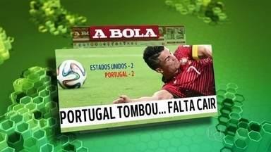 Clima na imprensa é de estímulo no Reino Unido e pessimismo em Portugal - No Reino Unido, muitas reportagens mostram os jogadores pedindo desculpas e estimulam os jovens a jogarem futebol. Em Portugal, o clima é de pessimismo.