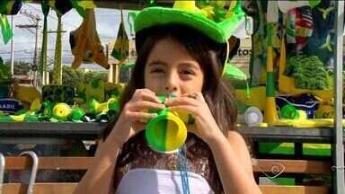 Crianças do ES estão na torcida pela seleção brasileira - Crianças vibram com o Brasil.