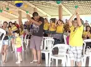 Torcedores de Palmas vão à loucura com o resultado do jogo entre Brasil e Camarões - Torcedores de Palmas vão à loucura com o resultado do jogo entre Brasil e Camarões