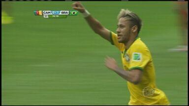 Após a partida entre Brasil e Camarões, torcedores comemoram o resultado em RIbeirão Preto - Seleção Brasileira garantiu a vaga nas oitavas de final em primeiro lugar no grupo e vao jogar contra o Chile no sábado (28) às 13h.