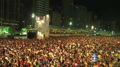 Confira a comemoração dos torcedores brasileiros nas Fan Fests - A torcida brasileira faz a festa com a classificação da Seleção no Brasil. No Ceará e Brasília a festa está grande.