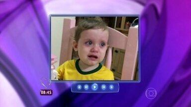Ana Maria mostra vídeo de menininha que chora por Neymar - Apresentadora faz homenagem ao craque da Seleção