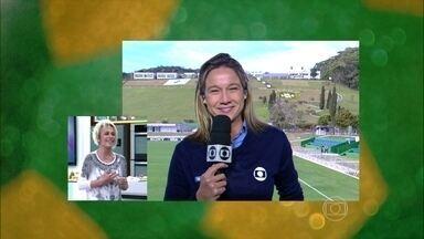 Na Granja Comary, Fernanda Gentil traz novidades da Seleção - Repórter fala sobre as mudanças para o próximo jogo