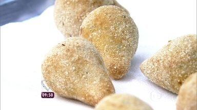 Coxinha de Batata Doce - Receita não contém glúten
