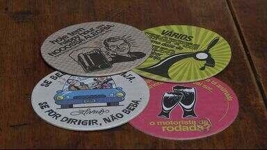Campanha usa arte para conscientizar motoristas do risco de beber e dirigir - Segundo dados da Agência Municipal de Trânsito, desde o início de 2014 já foram registrados 61 mortes no trânsito de Campo Grande