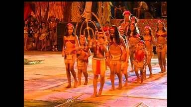 Confira o que rolou na última noite do Festival Borari - Evento homenageou índios que habitaram Alter do Chão.